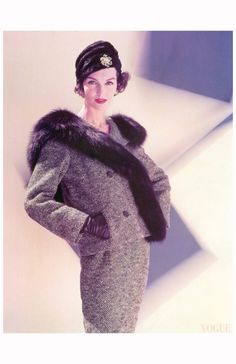 Joanna McCormick Vogue, Oct. 1956 cover
