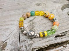 Artisan Butterfly Fall Mix Color Bracelet by HarborGirlDesigns, $47.00