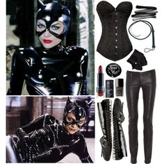 Cat Woman Cosplay hhhmmm cat woman for halloween? I already have the leather pants! Sexy Halloween Costumes, Cat Costumes, Halloween Cosplay, Halloween Fun, Costume Ideas, Woman Costumes, Adult Costumes, Halloween Makeup, Catwoman Cosplay