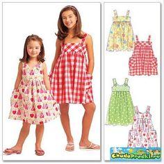 Летнее платье для девочки выкройки