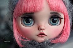 Peony is a custom doll by me Jodiedolls. Base doll is a original Blythe (limited edition) Prima Dolly Peony. Work done - Airbrushed and pastel make-up sealed with Mr. Super Clear - airbrushed and hand painted eyelids - sleepy eyes - boggled eyes - freckles - new eyelashes - teeth - eyebrows - new pullringcharms - 4 new eye chips - carved nose, lips and philtrium - signed on back by Jodiedolls - Original Pure Neemo body S (hold her head while pulling the strings) - Dress of choic...