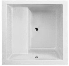 Kohler K19680 Underscore Series 48 White Bath Tubs Square 48