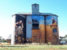 Art For Art Sake, All Art, 3d Illusion Art, Water Tower, Blue Abstract, Public Art, Farmers, Barns, Murals