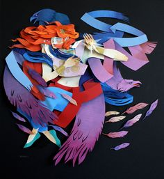 Morgana Wallace is a Canadian artist that creates colorful three-dimensional illustrations using layers of cut paper with additional details added in watercolor and gouache. More paper art via Trend Hunter Art And Illustration, Illustrations, Paper Cutting, Book Art, Paper Artwork, Paper Collages, Paper Artist, Art Graphique, 3d Paper