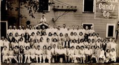 1929 Employees of Spangler Candy by Spangler Candy - The Dum Dums Company, via Flickr