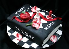 Twilight book cake. AMAZING! i would love to have this cake =)
