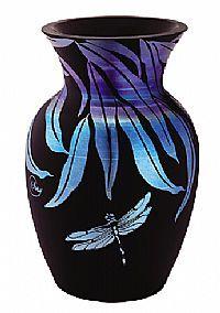 Dragonfly Vase by Fenton Art Glass