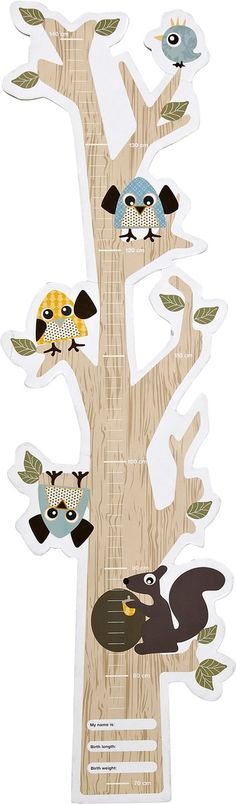 Forest Mätsticka Uggla Blå - Silly U / Done by Deer - RumAttÄlska.se