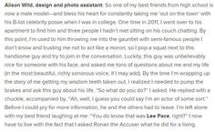 One of the best encounters with #LeePace I've read.  #MeetingLeePace