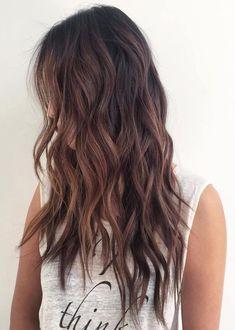 80 Cute Layered Hairstyles and Cuts for Long Hair - Brunette Shaggy Wavy Hairstyle - Long Layered Hair Wavy, Long Layered Haircuts, Haircuts For Long Hair, Long Hair Cuts, Cool Hairstyles, Layered Hairstyles, Long Wavy Hairstyles, Hair Color 2017, Hair Colors