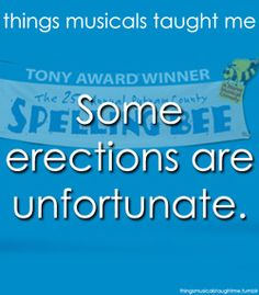 There is something for everyone on Broadway, and my teens, son included, LOVED Annual Putnam County Spelling Bee Theatre Geek, Musical Theatre, Stage Crew, Tony Award Winners, Putnam County, Haha So True, Spelling Bee, 12 Year Old, My Escape