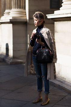 Street fashion blogger, Ms. Rei Shito with FUJIFILM X-T1 | http://www.thesartorialist.com