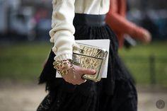 have some golden Chanel. #NataliaAlverdian in Paris. #YoungJunKoo