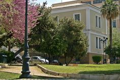 This building was the first hospital of the city, built in but now houses a cultural center of the municipality. Bauhaus, Cultural Center, The Locals, Greece, University, Walking, Houses, City, Building
