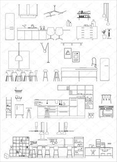 캐드소스 주방가전모음 이미지 포함 건축 도면 인테리어 오토캐드