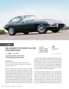 1961 Jaguar E Type, Series I, 3.8 Litre, FHC -- RM Auctions