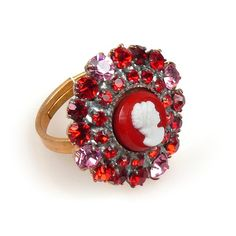 Cameo Ring Red. $7.90
