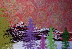 """""""Winter in the Rockies"""" by Artist Rhonda Lund 36 x Acrylic on Canvas; Staple back 'subtle colors coming forth in the ordered nature of the Rocky Mountains Lund, Rocky Mountains, Canvas, Colors, Winter, Artist, Nature, Painting, Tela"""