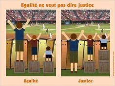 Egalité ne veut pas dire justice