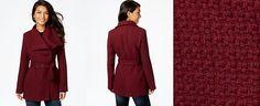 Madden Girl Textured Asymmetrical Walker Coat