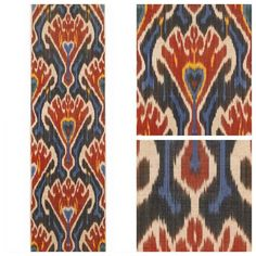 Naryn  Silk and cotton ikat handweaved Robert Kime UK