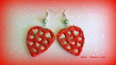 Orecchini in #fimo cuori eleganti handmade idee regalo san valentino donna , by Chiara - Creazioni in fimo, 6,00 € su misshobby.com