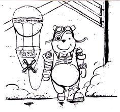 #inktober • Day 4 • Steampunk Winnie Pooh