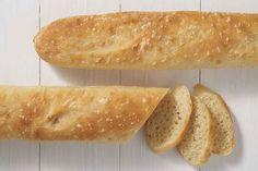 Crisp, light baguettes with a light sourdough tang. Sourdough Baguette Recipe, Sourdough Bread Starter, Sourdough Recipes, Flour Recipes, Bread Recipes, Starter Recipes, Bread Bun, King Arthur Flour, Love Food