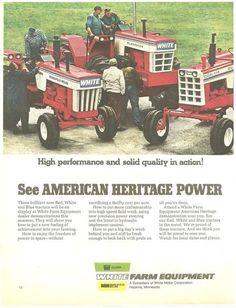 Antique Tractors, Vintage Tractors, Vintage Farm, White Tractor, New Tractor, Big Tractors, John Deere Tractors, Ford Tractors, Tractor Accessories