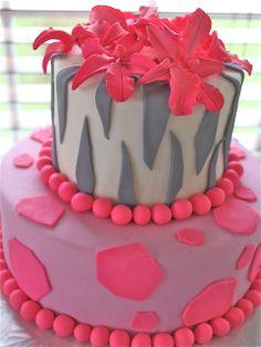 Modern safari baby shower cake