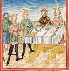 Pontus und Sidonia — Stuttgart (?) - Werkstatt Ludwig Henfflin,  um 1475  Cod. Pal. germ. 142  Folio 68r