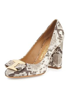 Salvatore Ferragamo ninnya phyton Sapatos De Laço, Sapatos Fofos, Sapatos  De Salto Nude, 530b997cb3