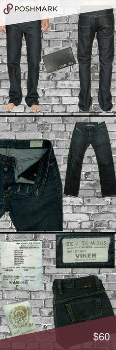 Diesel Viker 31 x 32 men's jeans Diesel Men's jeans Size 31 32 inch inseam  Viker Wash 0088Z Straight leg 1 small flaw shown in 3rd photo Diesel Jeans