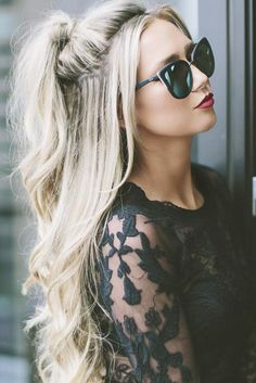 Summer Half Up Half Down Ponytail Trends You`ll Love ★ See more: http://lovehairstyles.com/half-up-half-down-ponytail/