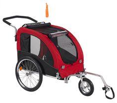 Comfy Dog Bike Trailer/Jogging Stroller with Stroller Kit Red - Large (MKD03A)