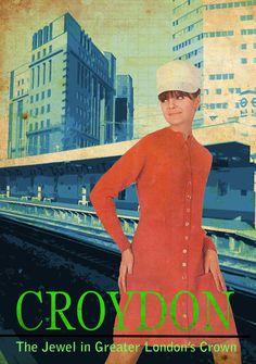 'Crap Towns: Croydon' by Craig Ennew Thornton Heath, London Drawing, Greater London, Croydon, Gcse Art, Old London, Crystal Palace, Surrey, Old And New