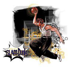 """Slam Dunk: Hanamichi Sakuragi"" by ctrlzed ❤ liked on Polyvore featuring art, anime, slamdunk and animeart"