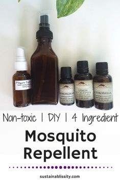 The only natural, DIY, Non-toxic mosquito repellent you need this summer. Made with citronella, lemon eucalyptus, and lemongrass essential oils.