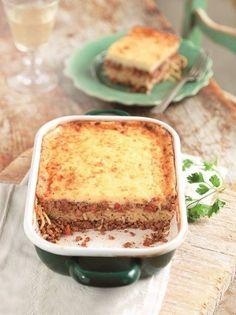 Μπολονέζ φούρνου - www.olivemagazine.gr Greek Recipes, Vanilla Cake, Lasagna, Pudding, Vegetarian, Pasta, Ethnic Recipes, Desserts, Food