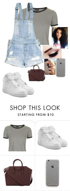 """Untitled #43"" by parislanee on Polyvore featuring Topshop, H&M, NIKE and Givenchy"