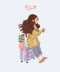 少女专辑 on behance Texture Illustration, Illustration Girl, Character Art, Character Design, Kawaii Wallpaper, Anime Art Girl, Art Design, Aesthetic Art, Cartoon Art