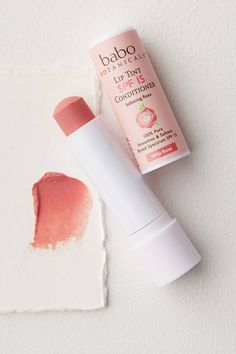 Babo Botanicals Lip Tint Conditioner SPF 15 by in Pink Size: All, Makeup at Anthropologie - Make up & Haare - Beauty Lip Gloss Colors, Lip Colors, Lipstick Colors, Batons Matte, Beauty Hacks For Teens, Glossy Makeup, Kissable Lips, Best Lipsticks, Soft Lips