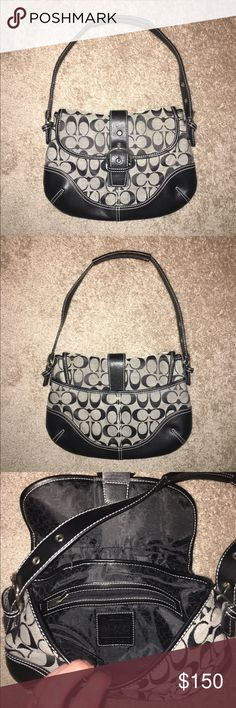 COACH 👜 EUC- zipper compartment inside, outside back pocket also ❤ REASONABLE offers welcome Coach Bags Shoulder Bags