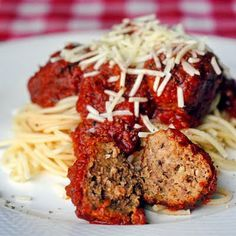 Meatballs: **Turned out DELICIOUS! Brett and I both loved them! I made them pretty big and they fried very quickly, leaving the insides undercooked so I put them in the crockpot for a few hours with tomato sauce.