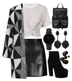 """""""28"""" by bswizzzlee ❤ liked on Polyvore featuring T By Alexander Wang, Aspinal of London, CLUSE and Oscar de la Renta"""
