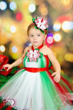 Santa's Little Princess Tutu Dress **** NOT MY CREATION JUST A SAMPLE OF WHAT CAN BE DONE ***
