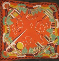 New York City 1939 World's Fair souvenir scarf