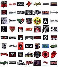 NEW MUSIC ROCK BAND SONG NAME LOGO JACKET VEST HEAVY METAL PUNK IRON ON PATCHES