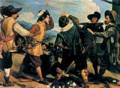 «Ссора солдат перед посольством Испании» (Riña entre soldados ante la embajada de España) 1630
