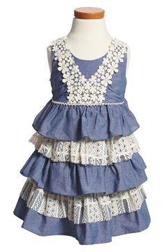 Iris & Ivy Sleeveless Chambray Dress (Toddler Girls) available at #Nordstrom- Brooklynn!